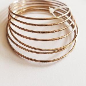 Jewelry - 🐢 5/$25 Plus size Bangle Bracelet Set
